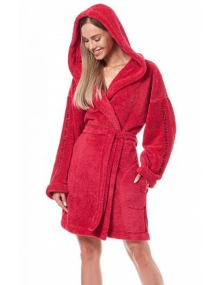 Халат жіночий, теплий з каппюшоном L&L-9131