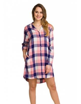 Тепла жіноча сорочка в клітинку KEY
