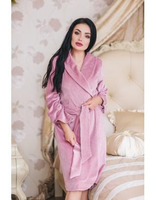 Велюровий, жіночий халат на запах