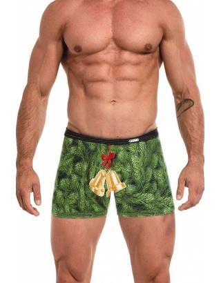Чоловічі труси Cornette, зелені з принтом