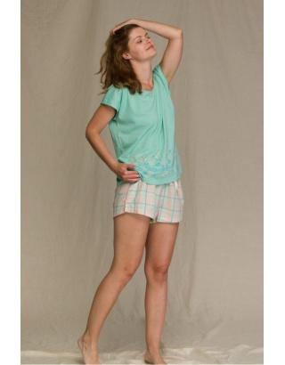 Піжама м`ятного кольору з шортами  KEY