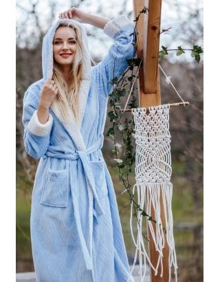 Довгий, махровий халат для жінок KEY