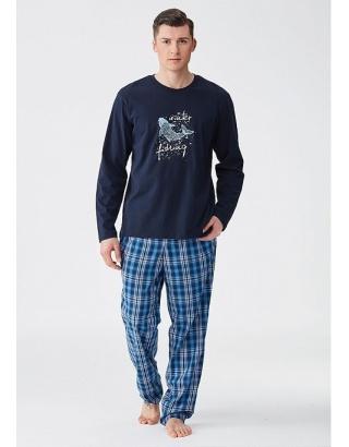 Чоловіча піжама з штанами в клітинку Key