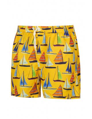 Пляжные шорты с кораблями