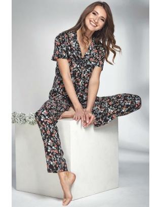 Піжама жіноча з бавовни (квітковий принт)