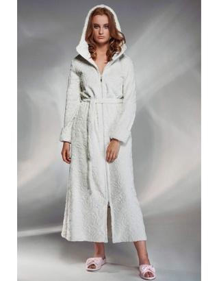 Жіночий халат максі на блискавці Shato
