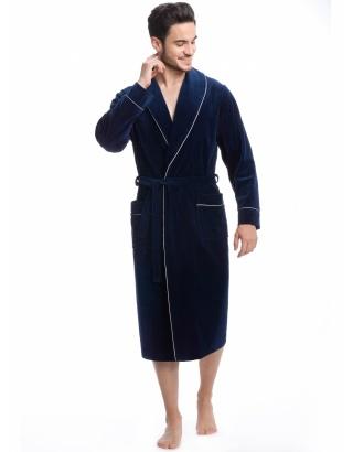 Велюровий чоловічий халат L&L-9105